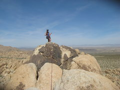 Rock Climbing Photo: Agina Sedler atop Moosedog Tower near the rap chai...