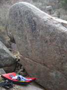 Rock Climbing Photo: Arete to Face starts in the horizontal and continu...
