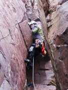 "Rock Climbing Photo: Leading ""F4 Ledges"" 5.4 in February 2011..."