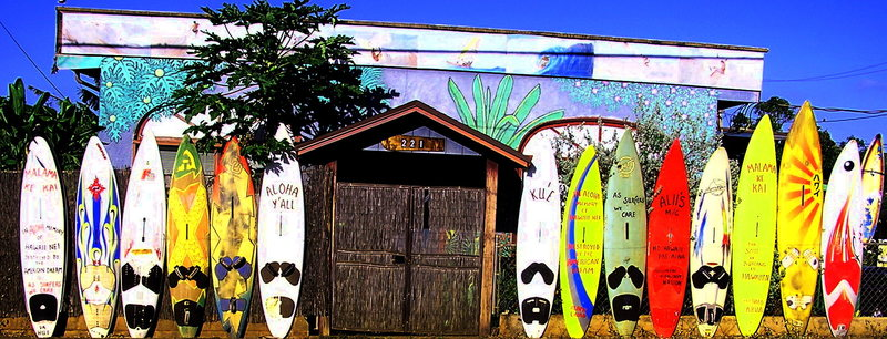 Board fence in Paia<br> Photo: Olaf Mitchell