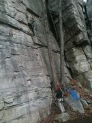 Rock Climbing Photo: me workn up the fantastic lieback section
