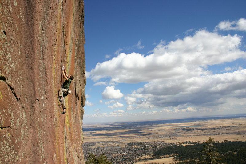 Rock Climbing Photo: Ted Lanzano, the Flatiron's send master, making it...