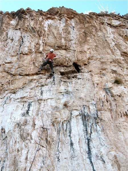 Rock Climbing Photo: Jesse Schultz in a tussle.