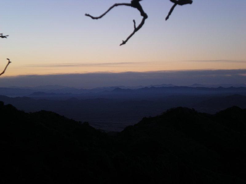Rock Climbing Photo: misty pre-sunrise on the east side hike in