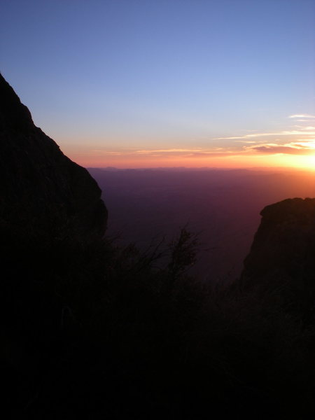 Rock Climbing Photo: sunset partway down the descent