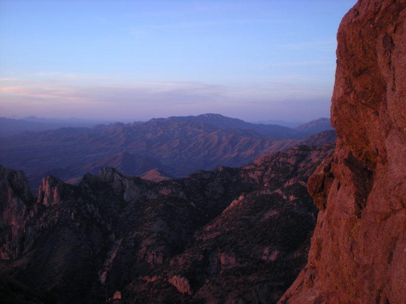 Rock Climbing Photo: looking north at sunset