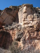 Rock Climbing Photo: Unknown #4, at the far north end of the Teenage Pr...