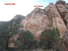 Rock Climbing Photo: Another view of The Tropical Wall:  1. Observe God...