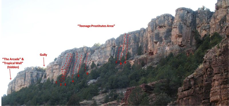 Rock Climbing Photo: Teenage Prostitutes Area (the northern half of The...