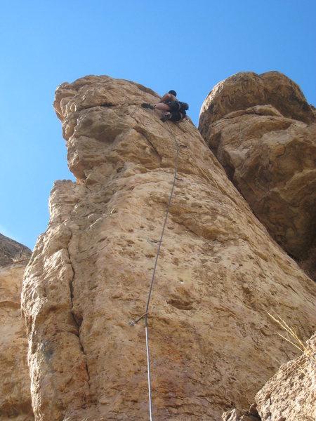 Rock Climbing Photo: Stretching through a brief mini-crux, just above t...
