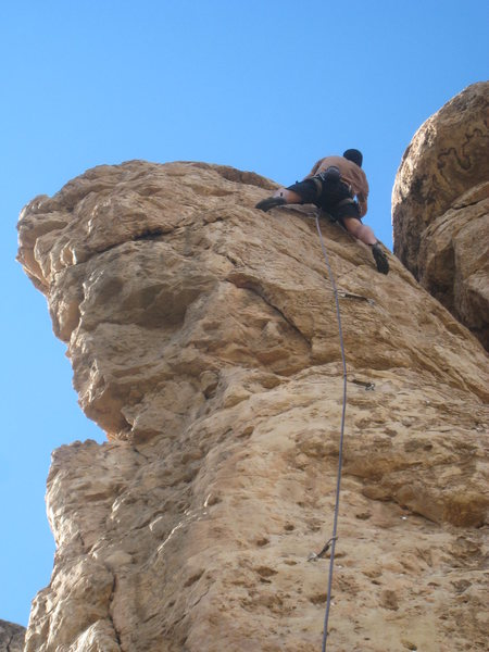 Rock Climbing Photo: High on the pillar.
