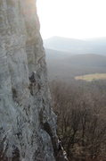 Rock Climbing Photo: Getting ready for the business on the second pitch...