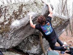 "Rock Climbing Photo: Shane Messer with the FA of ""Gunslinger"""