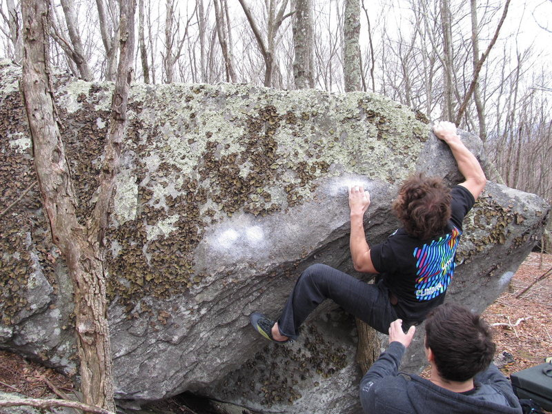 "Rock Climbing Photo: Shane Messer with the FA of ""Gunslinger""..."