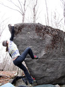"""Rock Climbing Photo: Melanie on the tiny and fun """"Riverboat Prow&q..."""