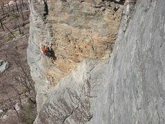 Rock Climbing Photo: Bruce leading pitch 1.  Photo credits got to Zacha...