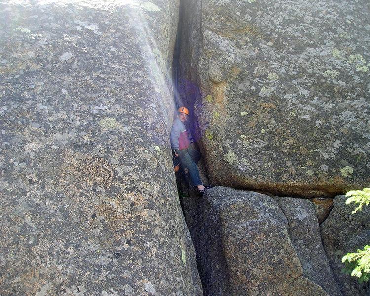 Rock Climbing Photo: Alex resting in the sun.