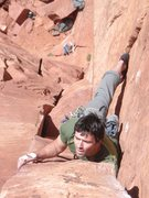 Rock Climbing Photo: R Shore on Squeeze Play
