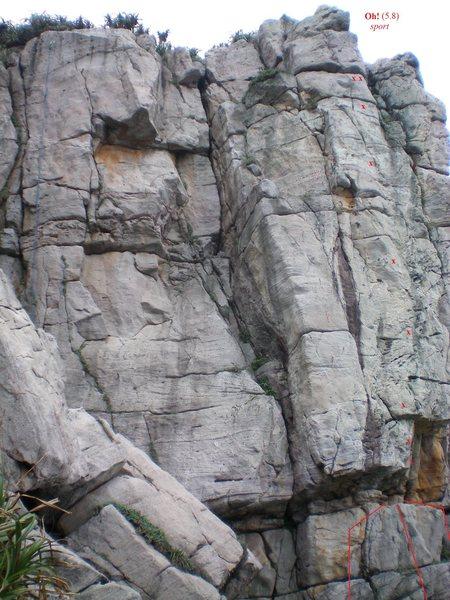 Rock Climbing Photo: Oh! route topo