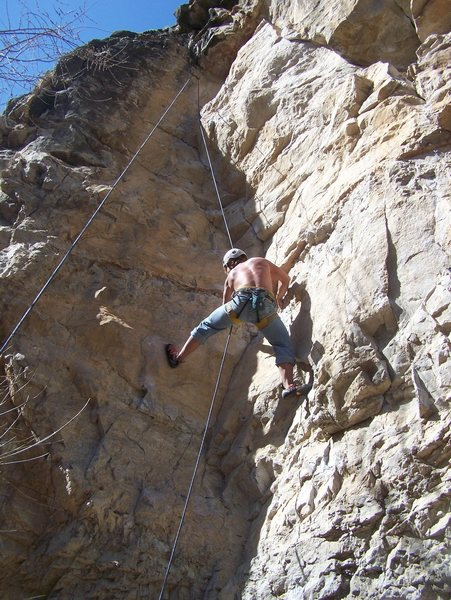 Rock Climbing Photo: Practice your stemming