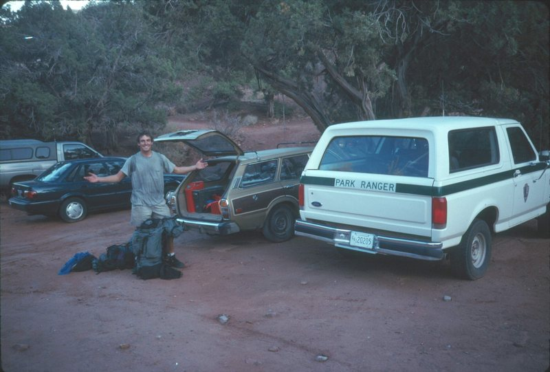 After we got busted, er, I mean issued our Arch Climbing Permits...<br> The fee was $25.<br> 1992