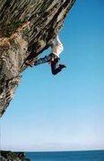 Rock Climbing Photo: Sticking the toss!