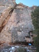 Rock Climbing Photo: Logan's Run before the bolts went in.