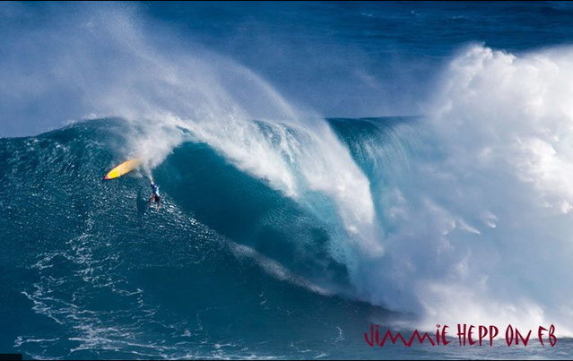 Wipe-out at Jaws!