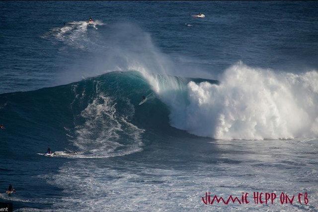Shane Dorian paddling in at Jaws