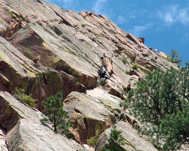 Rock Climbing Photo: Gambit is a great climb.