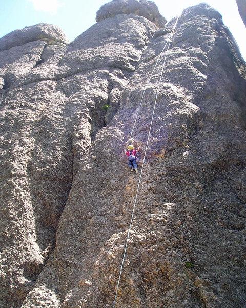 Dillon enjoying the laid back climb
