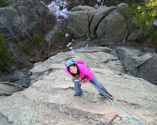 Rock Climbing Photo: Nickie rapping the waves