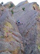 Rock Climbing Photo: Me on lead, P1.