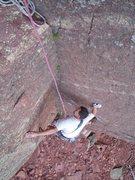 Rock Climbing Photo: Tom following P1.