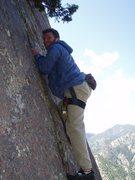 Rock Climbing Photo: Dan Gabbay starting P2.