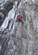 Rock Climbing Photo: Dave Rone starting up Purusha. Photo: Burt Lindqui...