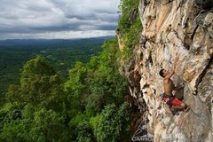 Rock Climbing Photo: Storm clouds build over the jungle