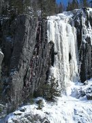 """Rock Climbing Photo: Topo of """"Reticulation"""".  This was climbe..."""
