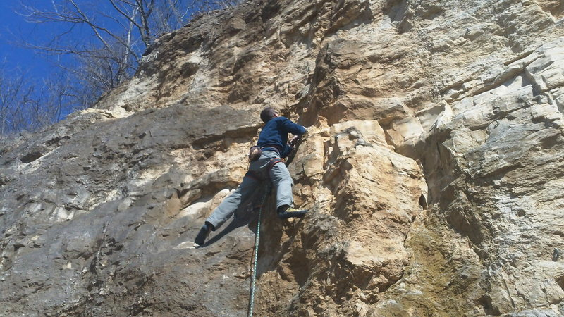 Rock Climbing Photo: Spring training on Wehrmacht Stable