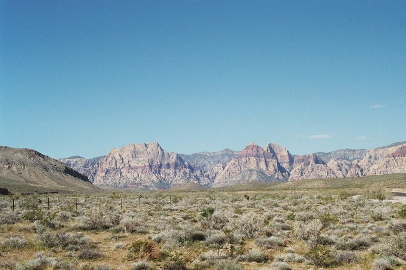 Red Rock NV - '04 - from the campground.