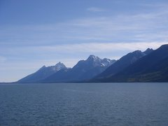 Rock Climbing Photo: Grand Tetons from across Jackson Lake - '10
