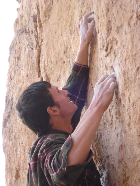 Rock Climbing Photo: Great mono pockets!