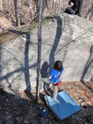 "Rock Climbing Photo: Steve on ""Harder Than Most"" (V2) in the ..."
