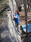 """Rock Climbing Photo: Steve on """"Harder Than Most"""" (V2) in the ..."""
