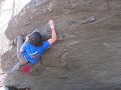 "Rock Climbing Photo: Steve on ""Eaten Alive"" (V7) in the Mid B..."