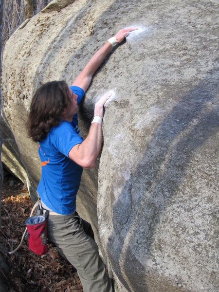 "Rock Climbing Photo: Steve on ""Last Action Hero"" (V6) in the ..."