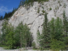 "Rock Climbing Photo: ""B"" Slab.  Wasootch Creek, Kananaskis Co..."
