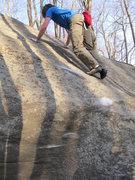 "Rock Climbing Photo: Steve on ""Last Action Hero"" (V6) in the ..."