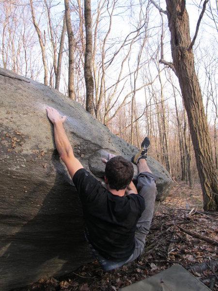 "Rock Climbing Photo: Aaron James Parlier on the FA of ""Sweet Cherr..."