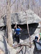 """Rock Climbing Photo: Tyler on """"Goodmornin'"""" (V0), Mid Boneyar..."""